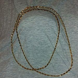 """Vintage Monet 36"""" Gold Tone Chain"""